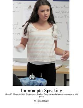 Impromptu Speaking (from Mr. Harper's Public Speaking & Reading Thingee)