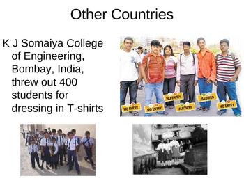 Public Speaking: School Uniforms power point