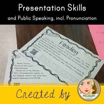 Public Speaking Skills and Pronunciation Skills for native and ESL English