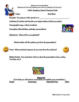 Public Speaking: Speech Planning Guide