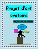 Public Speaking/Speeches: Projet d'art oratoire
