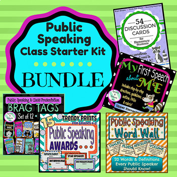 Public Speaking Starter-Kit BUNDLE
