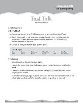 Public Speaking (Ten-Minute Activities)