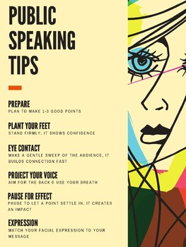 Public Speaking Tips Poster