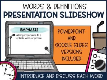 Public Speaking Vocabulary - A Complete Unit