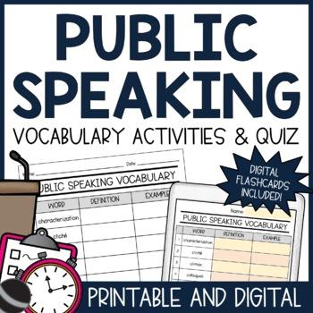 Public Speaking Vocabulary Unit