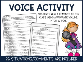 Public Speaking: Voice & Gestures- Practice, Text, and Activities!