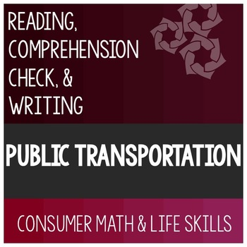 Public Transportation Article- Consumer Math Special Education