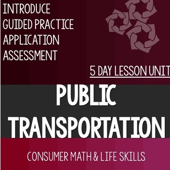 Public Transportation Bundle- High School Special Education