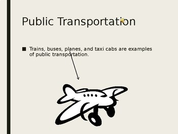 Public Transportation PowerPoint-High School Special Education