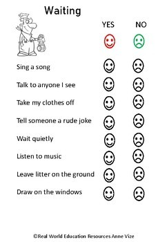 Public Transportation Quizzes - Yes or No for life skills and special needs