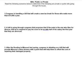 Public bills vs Private Bills