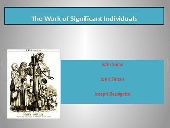 Public health reformers in nineteenth century Britain