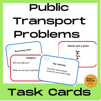 Public transportation problem solving cards - Life Skills for Special Needs