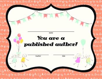 Published Author Certficates