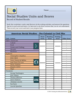 Published Social Studies Units and Lessons
