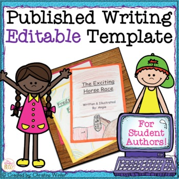 Published Writing **Editable** Template