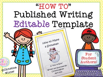 How to Books Published Writing **Editable** Template