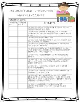 Published Writing Rubrics