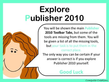 Publisher 2010 Toolbar Activity - All Tabs