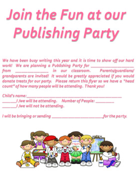 Publishing Letter for Parents