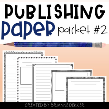 Publishing Paper Packet #2