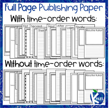 Publishing Paper and Book Template for Young Writers