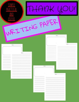 Publishing Writing Paper in various formats