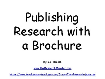 Publishing with a Brochure