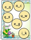 Puddle Jumpers Missing Letter File Folder Game