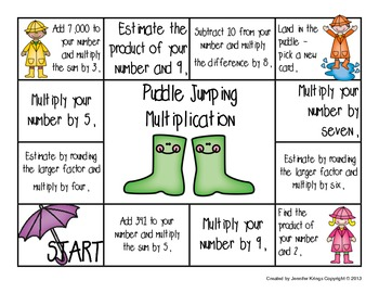 Puddle Jumping Multiplication
