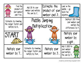 Puddle Jumping Multiplication - Free