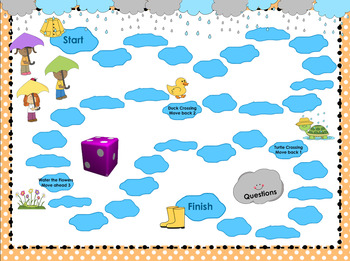 Puddle Jumping Smartboard Game (1st Grade Math Review)