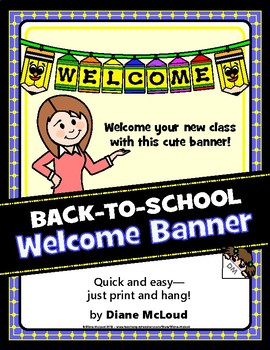 Pudgies™ First Day of School Welcome Banner