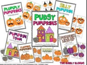Pudgy Pumpkins~ 6 Literacy Centers