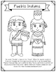 Pueblo Indians Coloring Page Craft and Poster, Native American Tribes