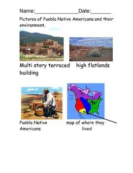 Pueblo Native American Reading comprehension packet