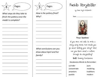 Pueblo Storyteller Trifold - Imagine It 3rd Grade Unit 6 Week 3