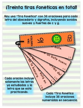 Puedo leer con fluidez - Tiras fonéticas # 3 (Cc, Vv,ñ, Qq y FF)