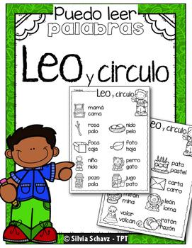 Puedo leer palabras -  Leo y circulo