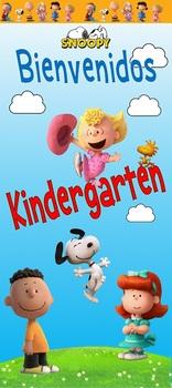 Puerta BIenvenidos Kindergarten Snoopy