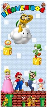 """Puerta Bienvenidos Super Mario 32""""x72"""""""