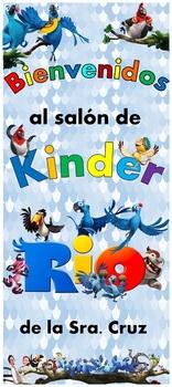 """Puerta Bienvenidos a Kinder Sra. Cruz 32""""x72"""""""