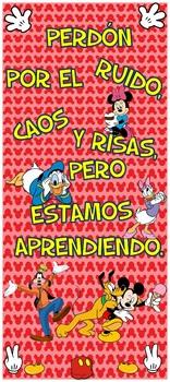"""Puerta Mickey & Friends Perdón por el caos 32""""x72"""""""