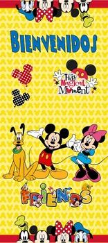 """Puerta Mickey & Minnie Bienvenidos 32""""x72'"""