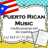 Music from Puerto Rico - Reading Passage and Questions - G