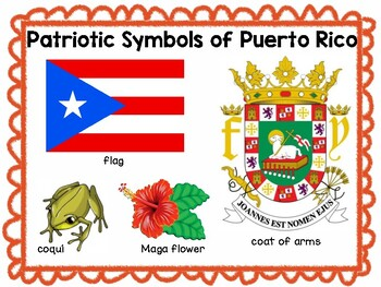 Puerto Rico Vocabulary Words Plus + Color by Code Flag + Label the Picture!