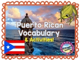 Puerto Rico Vocabulary Words Plus + Color by Code Flag + L