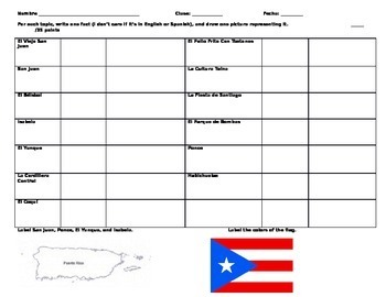 Puerto Rico Fact Sheet/WebQuest - Expresate I, Chapter 2 (Red Book)