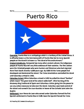 Puerto Rico - Full History Informational Article Facts Que